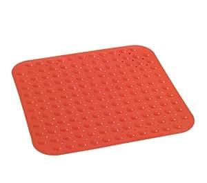 Wenko 18945100 tappetino doccia tropic red antiscivolo - Tappetino doccia ...