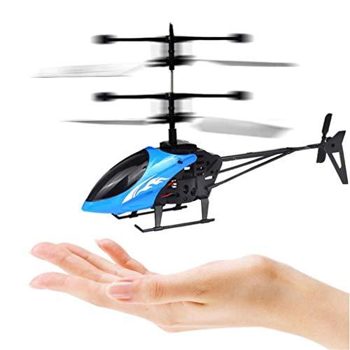 Omiky® Mini RC Infrarot Induktion Fernbedienung RC Spielzeug 2CH Gyro Hubschrauber RC Drone (Blau)