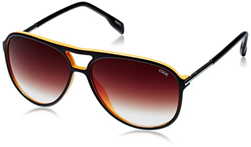 IDEE Aviator Sunglasses (IDS1897C8SG|59|Black and Orange ) image