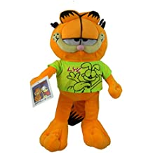 Garfield - Gato Garfield en Peluche con camiseta color verde 30cm - Calidad super soft