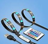 QWhing TV LED Hintergrundbeleuchtung Streifen Beleuchtung Flexibel USB LED Streifen Licht für Flachbildschirm
