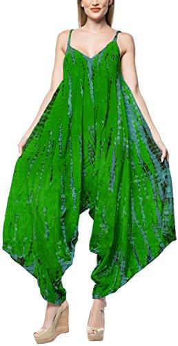 LA LEELA Bikinibadebekleidung Badeanzug Aloha hawaiische Abdeckung grün Overall Playsuit Kiefer