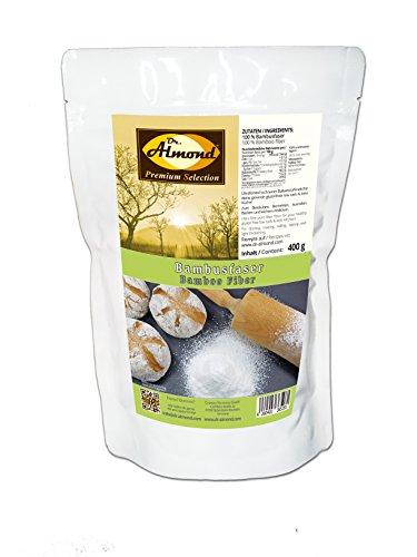 Dr. Almond Bambusfaser Ballaststoffmehl low carb glutenfrei paleo - Kartoffelfaser-Ersatz mit 0 {e6df124db925145333ff5929dd2f75ea3bce63c229b1df118f28f7d75023f3ab} Kohlenhydraten - Zum Backen, Bemehlen & Ausrollen 400 g ALLERGENFREI