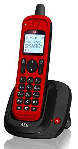 AEG Thor Outdoor | DECT Telefon | Schnurloses Festnetztelefon | IP67 Schnurlostelefon | Mit Anrufbeantworter | Rot