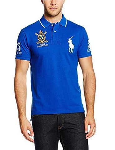 Polo Ralph Lauren SSCUSTBPPM5-Short Sleeve-Knit, Homme, Bleu-Blau (Sapphire Star A4SAP), M