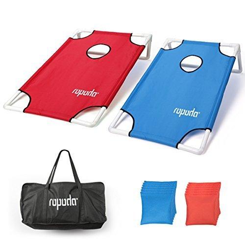 ROPODA Tragbar PVC gerahmt Cornhole Spiel Set mit 8Bean Bags und Tragetasche