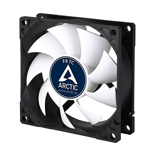 ARCTIC F8 TC - Temperaturgesteuerter 80 mm Gehäuselüfter | Standard Case Fan | Temperatursensor...