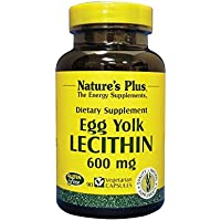 Nature's Plus - Egg Yolk Lécithine 600 mg - 90 Capsules Végétales