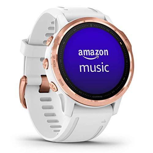 Garmin fenix 6S PRO kompakte GPS-Multisport-Smartwatch mit Herzfrequenzmessung am Handgelenk, Musikplayer, vorinstallierte Karten, WLAN, wasserdicht, kontaktloses Bezahlen, lange Akkulaufzeit