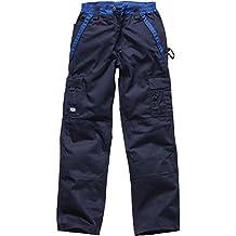 Dickies Pantalon de travail deux tons IN30030, couleur:marine/bleu barbeau;pointure:44 (Taille Fabricant:50)