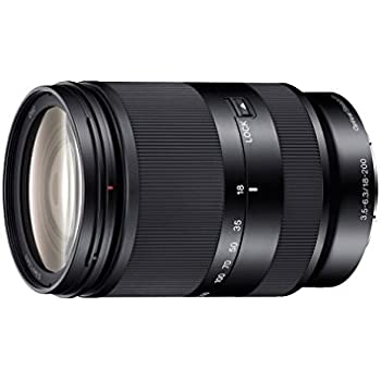 Sony SEL-18200LE Zoom-Objektiv (18-200 mm, F3.5-6.3, OSS, APS-C, geeignet für A6000, A5100, A5000 und Nex Serien, E-Mount) schwarz