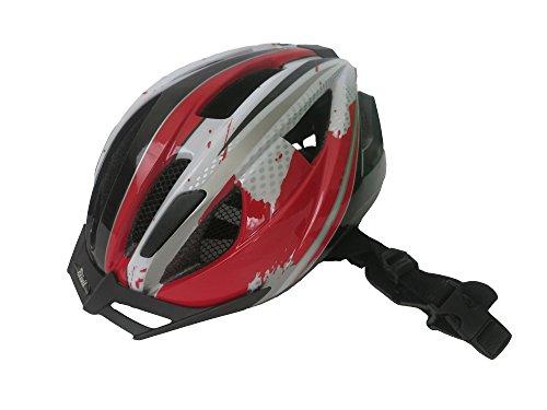 Kinder Fahrradhelme ohne Zubehör in verschiedenen Farben von Crivit Sports, 49 - 54 cm Kopfumfang (Rot / Weiß)