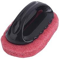 Delicacydex Cepillo de Limpieza de Esponja Multifuncional Fuerte con manija Baño en casa Cepillo de Limpieza para Piso Kicten Herramienta para Polvo - Rojo
