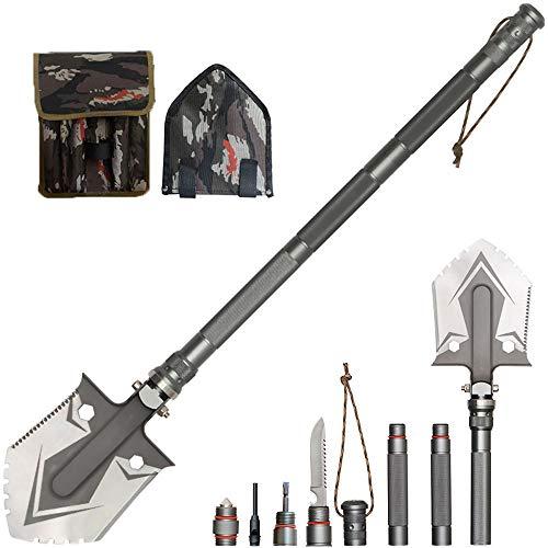 WangLx Folding shovels Pala Plegable, Multifunción Pala Supervivencia De Acero Inoxidable...
