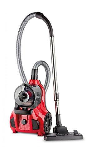 Fakir Range Electronic 900 W - Aspiradora (900 W, 27,7 kWh, Aspiradora cilíndrica, Sin bolsa, 2 L, Negro, Rojo)