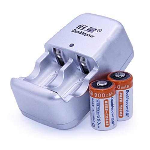 2pcs / Lot 900mAh CR2 Akkusatz Lithium-Batterie DC 3.6V mit Schnell-Ladegerät Mehrere Schutzsysteme - Lithium-batterie-ladegerät Cr2