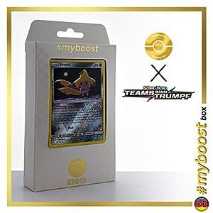 Jirachi 99/181 Holo Reverse - #myboost X Sonne & Mond 9 Teams Sind Trumpf - Box de 10 Cartas Pokémon Alemán