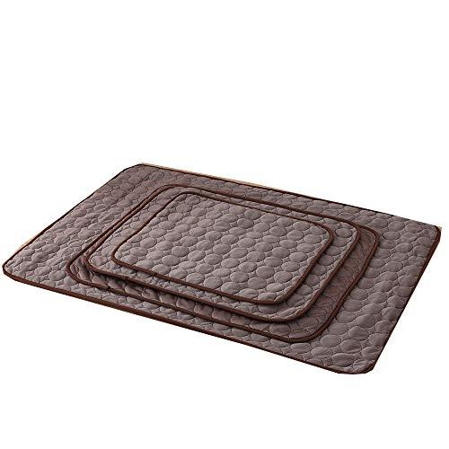MoonyLI Haustierkühlmatte, Weiche Wärmeableitung Atmungsaktive Hundekühlmatte Matratzenauflage, Ungiftig und Nicht klebend und hautfreundlich, Hundekühlbett für kleine, mittelgroße Hunde