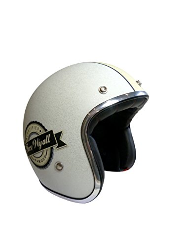 TORX Casco Moto Wyatt Famous Matt Glitter, Bianco, Taglia XL
