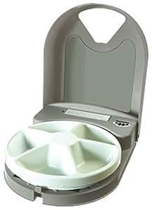 PetSafe - Distributeur de Nourriture et Croquettes Automatique Eatwell 5 Repas pour Animaux - Programmable - Ecran LCD - Sans BPA