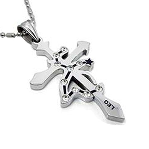 Twelve Constellation Lion Necklace Jewelry Pendant Metal Style Style coréen