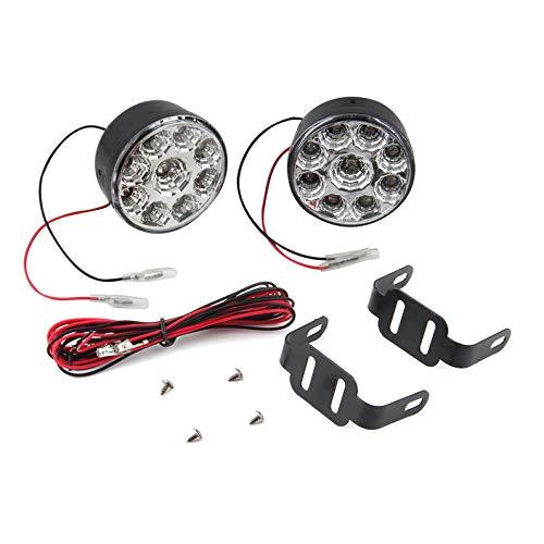2 Teile/para Universal 9 LED Runde Tagfahrlicht Tagfahrlicht DRL Auto Nebelscheinwerfer Scheinwerfer Für Off-Road Auto LKW