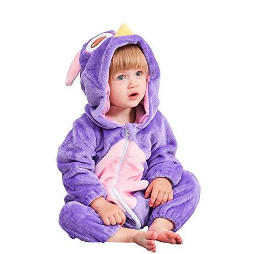 YISHU Kinder Baby Tier Kostüme Tieroutfit Flanell Pyjama Cosplay Jumpsuit Schlafanzug Mädchen Jungen Winter Nachtwäsche Eule 70