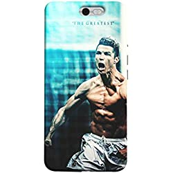 Sibu Print Ronaldo CR7 Real Madrid Best Footballer Designer Printed Polycarbonate Matte Finish Hard Back Case Cover for InFocus M812