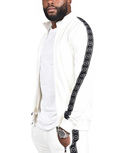 PROJECT X - Veste zippée octogones Homme Blanc Capsule Gradur - Couleur: Blanc - Taille: L/XL