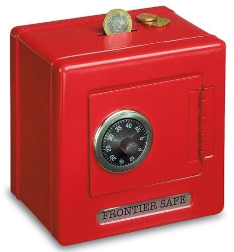 Metal Safe Money Box Red