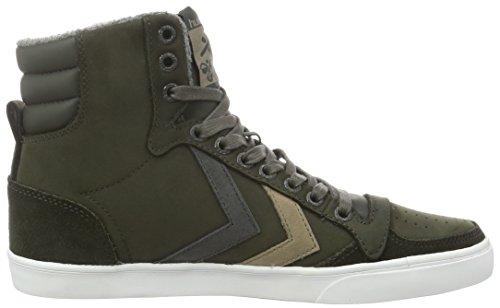 Hummel Slimmer Stadil Duo Oiled High, Unisex-Erwachsene Sneaker Grau (Beluga)