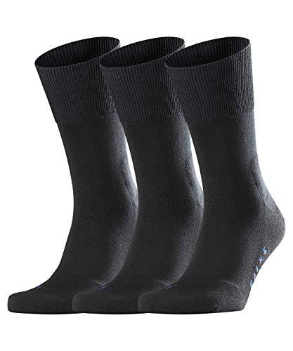 FALKE Unisex Socken Run 3-Pack, Baumwollmischung, 3 Paar, Schwarz (Black 3000), Größe: 42-43