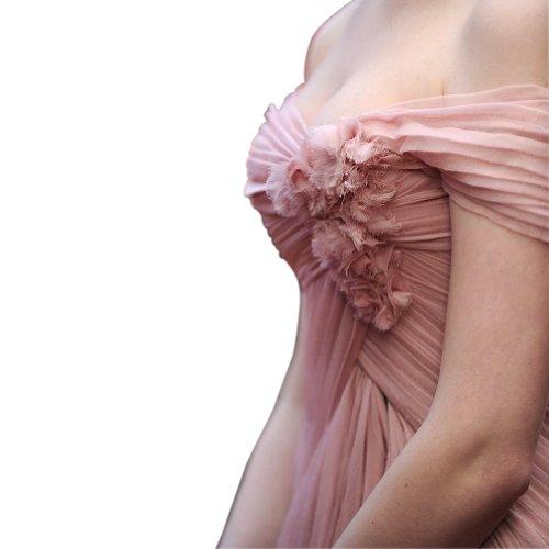 GEORGE BRIDE elegante gespaltet vorn Celebrity Kleid Rosa -zum ...
