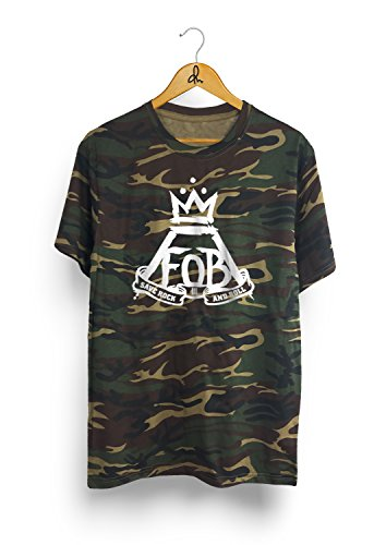 New Fall Out Boy Camo T-Shirt F.O.B Tee (Medium, Camo) Fall Out Boy-shirt