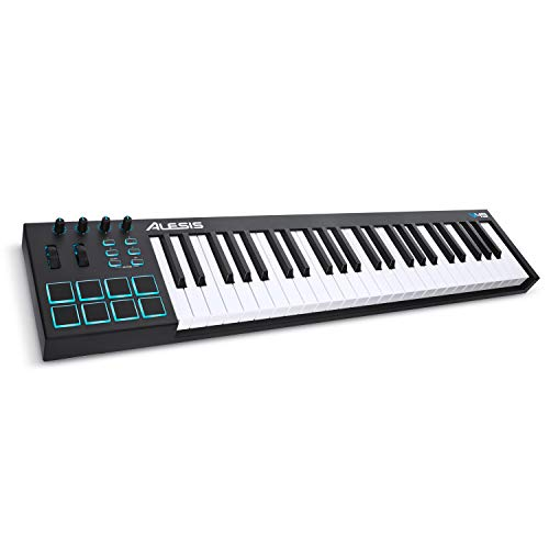 Alesis V49 - Tragbarer 49-Tasten USB-MIDI Keyboard Controller mit 8 hintergrundbeleuchteten Pads, 4 zuweisbaren Encodern und einem professionellen Softwarepaket inklusive Pro Tools | First