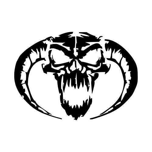 Dämon Schädel Personalisierte Auto Aufkleber Stilvolle Motorrad Vinyl Aufkleber, 3D 2 Stücke Diy Abnehmbare Aufkleber Dekor 13X9,4 Cm - Dämon-schädel-tattoo