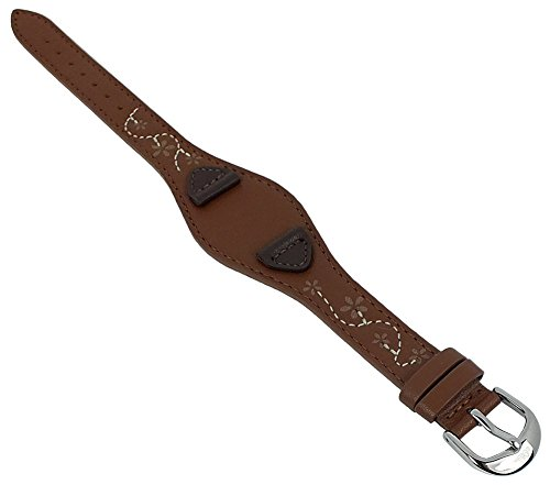 s.Oliver Unterlagenband Uhrenarmband Leder Band 14mm braun mit Ziernaht SO-1561-LQ
