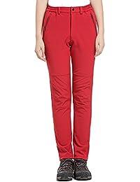 Juqilu Mujer Hombre Pantalones de Trekking Pantalones de Montaña Transpirable Fleece Lined Pantalones de Escalada Impermeables Pantalones de Senderismo Pantalones Invierno S-3XL