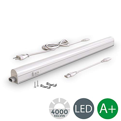 B.K. Licht I LED Unterbauleuchte I Lichtleiste I 57,3cm I 8W I 700lm I 4.000K neutralweiß I erweiterbar durch Stecksystem