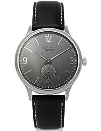 gooix HUA-05915 correa de cuero reloj de pulsera acero 50 M negro
