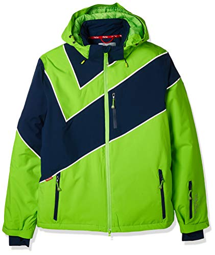 Fifty Five Extrem Skijacke für Herren Saint Andrews Grün Blau L Warme Snowboard Jacke Winterjacke