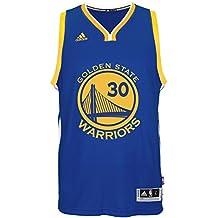 Golden State Warriors Adidas - Camiseta de Stephen Curry, NBA, color azul Talla:small