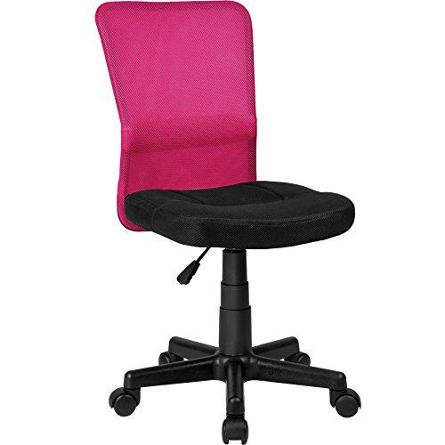 TecTake Bürostuhl Drehstuhl Schreibtischstuhl - diverse Farben - (Schwarz-Pink | Nr. 401797)