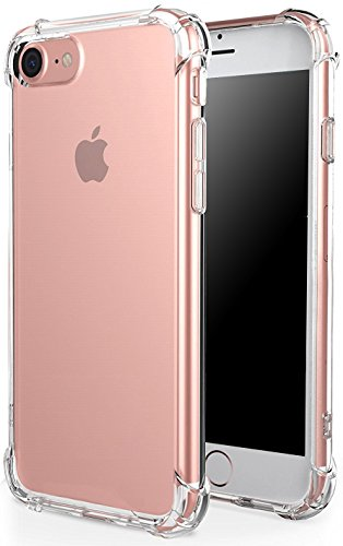 iPhone 8 Plus Hülle, iPhone 7 Plus Hülle, Pasonomi Crystal Clear Case TPU Silikon Tasche Schutzhülle für Apple iPhone 8 Plus & iPhone 7 Plus 5.5 zoll (Klar) Klar