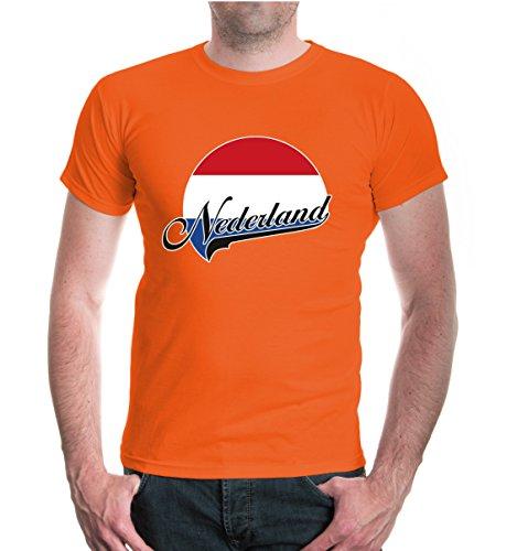 buXsbaum® T-Shirt Niederlande-Logo Orange-z-direct