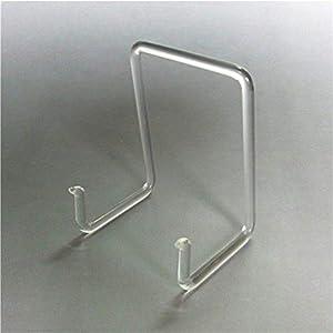 3 Stück Tellerhalter Tellerständer aus Glas bis 30cm Top Qualität Handmade