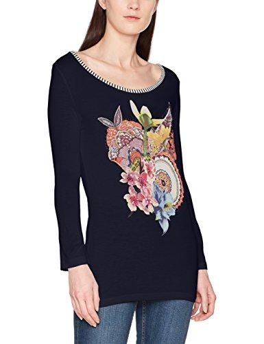 Desigual Damen T-Shirt TS_Simba, Blau (Marino 5001), Medium