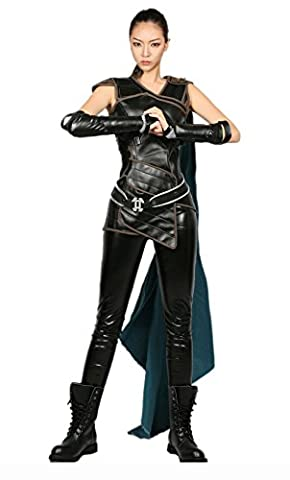 Valkyrie Cosplay Costume Halloween Vêtements Adulte Femmes Déguisement Tenue Sans Manches Guerrier Suit Top Pantalon Set