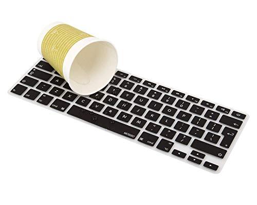 """Einzigartige Ultra Thin Silikon Tastaturabdeckung Schwarz Tastatur Hautschutz (Europa Layout UK Version) Für Alle MacBook Air 13"""", MacBook Pro 13"""" 15"""" 17"""""""