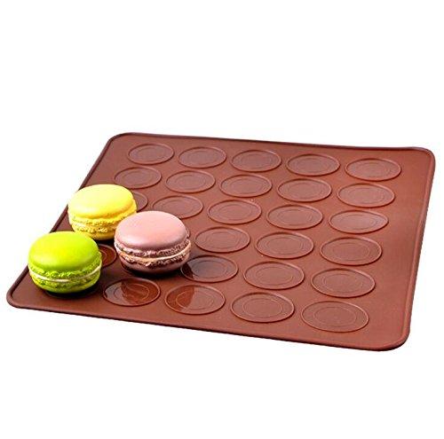 Idvor Macaron Macaron Backblech Mat-30 Runde Löcher 100% Lebensmittel Grad Silikon Macarons Formen Silikon Backmatte